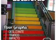 Grafica publicitaria adhesiva para pisos en vinilo de alto trafico - grafica24