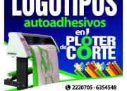 LOGOTIPOS ADHESIVOS PLOTEADOS TROQUELADOS / GRAFICA PUBLICITARIA
