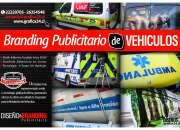 LOGOTIPOS ADHESIVOS Y BRANDING PUBLICITARIO DE VEHICULOS