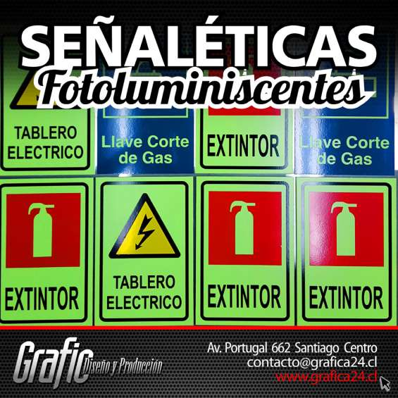 Señaleticas fotoluminiscentes