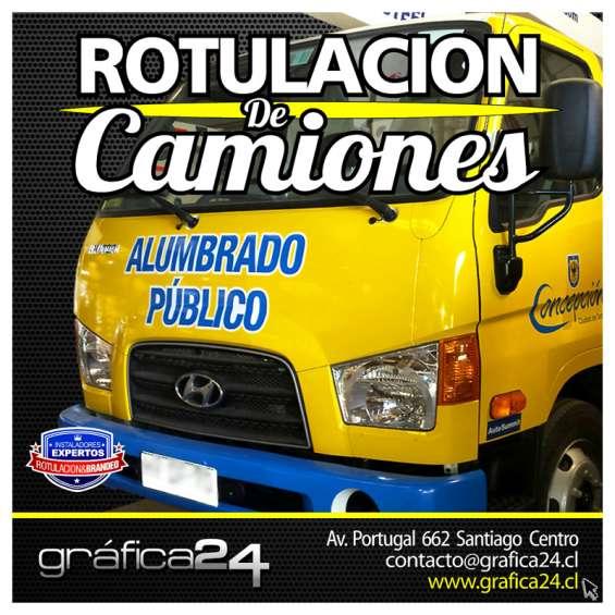 Gráfica publicitaria y logotipos para camiones