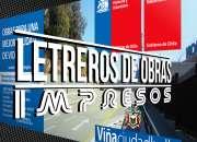 LETREROS PARA OBRAS, SERVIU, MOP, COSNTRUCTORAS - grafica24.cl