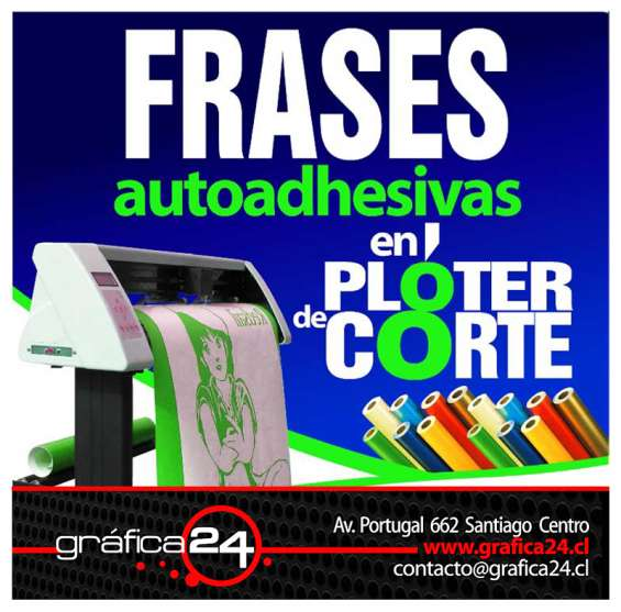 Logotipos y graficas adhesivas en ploter de corte