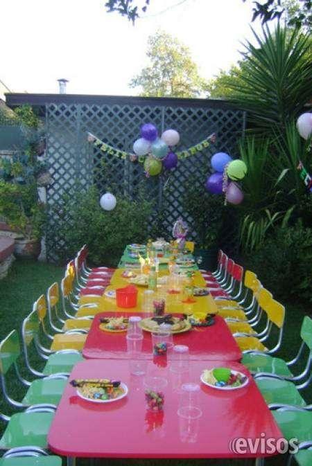 Arriendo sillas y mesas para cumpleaños de niños 961908923