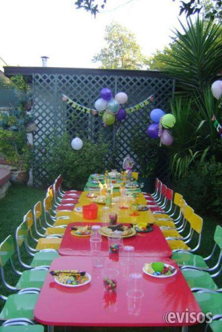 Arriendo sillas y mesas para eventos de niños 961908923