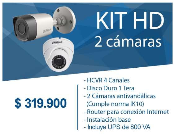 Kit 2 camaras seguridad
