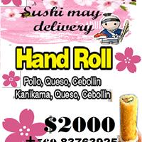 Sushi may delivery, cóctel, cumpleaños, matrimonios, colegios.