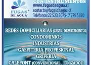 Gasfiteria Profesional Fugas de agua con instrumentos