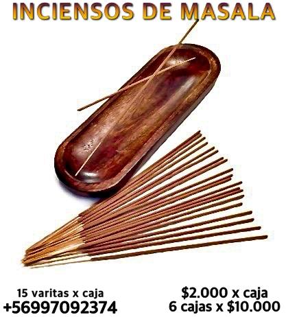 Inciensos naturales de masala