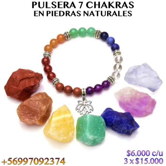 Pulsera 7 chakras en piedras naturales